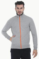 Cotton Poly Blend Jacket With Zipper