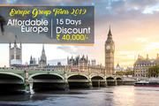 Affordable Europe Group Holiday Tour Packages from Delhi India
