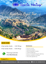 Book Rajasthan Royal Tour Package & Get exciting Deals