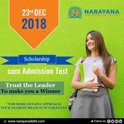 Come take the Scholarship cum Admission test on 23rd Dec Mayur Vihar