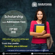 Scholarship cum Admission test for IIT-JEE, NEET & Foundation Courses