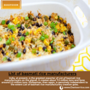 Get the List of basmati rice manufacturers