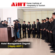 Become an expert in the field of hotel,  travel & tourism at AIHT
