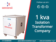 1kva Isolation Transformer Manufacturer in India - Servostar
