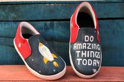 Hand Painted Kids Shoes