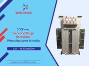 100 kva Servo Stabilizer Manufacturer Company in India - Servostar
