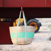 HabereIndia - Trendy Dry Jute handmade bag/boho chic bag/tote bag (Co
