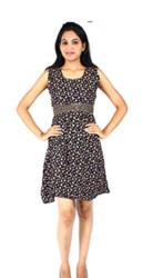 Trendy Desi Women's Cotton Dress(Black)