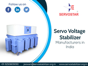 Servo Voltage Stabilizer Manufacturers in India - Servo Star