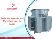 Isolation Transformer Manufacturer in India