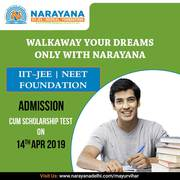 Narayana delhi scholorship test on 14th April 2019-Mayur Vihar