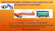 Finest Web Development Training Institute Course in West Delhi
