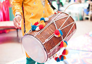 Dhol players in south Delhi