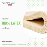 India's No 1 Latex Mattress-Sleep Spa 100% Natural Mattress