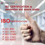 ISO 9001:2015 | ISO 27001:2013 | Apply certificate Pan India
