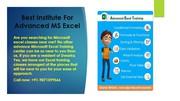 Advanced Excel Training in Delhi- DGA PROFESSIONAL INSTITUTE