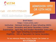 NIOS Admission,  Nios admission in Delhi,  NIOS Admission 2020