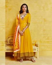 Women's latest party wear kurti palazzo set | Fashionnaari.com
