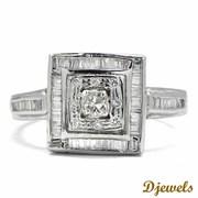 0.41 Ct. Natural Diamond Studded 14K HM White Gold Engagement Ring