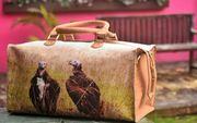 customised bag with animal print