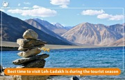 Best time to visit Leh-Ladakh is during the tourist season