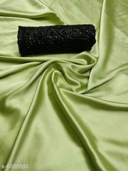 Satin Silk with gorgeous georgette blouse.